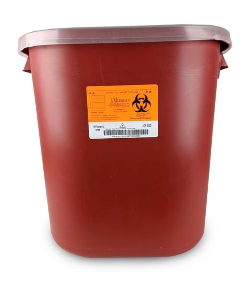 8705 - 8 GAL Red Sharps Container
