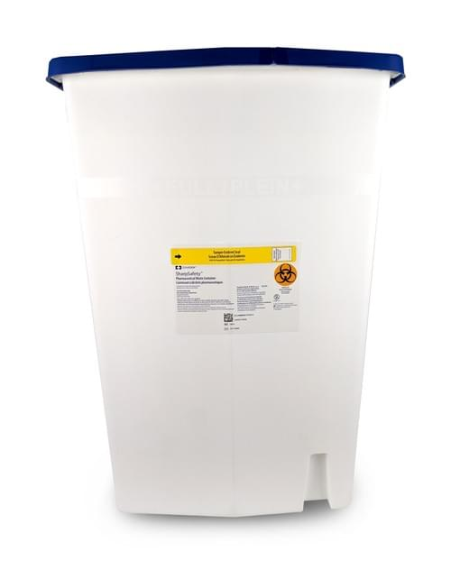 8870 - 18 GAL - Non-Haz Pharmaceutical Waste Container White PGII Rated
