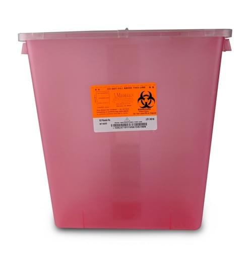 8710TF - 3 GAL Red Sharps Container