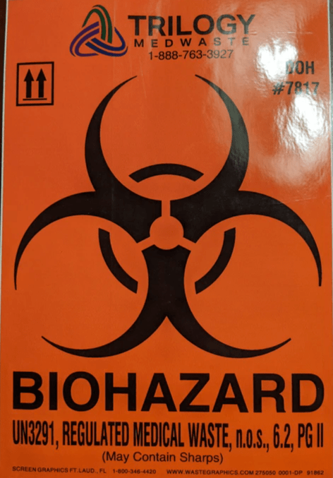 "10"" x 6"" Large Biohazard Label"