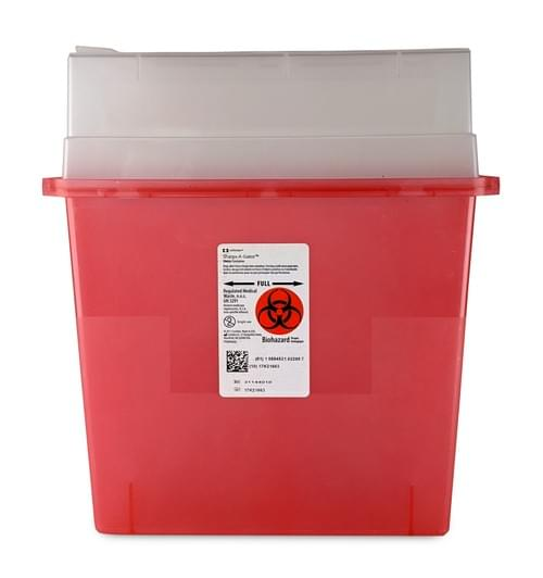 31144010 - 5 QT Red Sharps Container