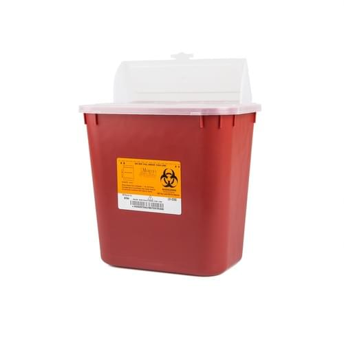 8704 - 2 GAL Red Sharps Container