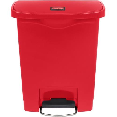 6143 - 8 GAL Red Step-on Container