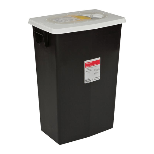 8608 - 8 GAL Haz Pharmaceutical Waste Container Black