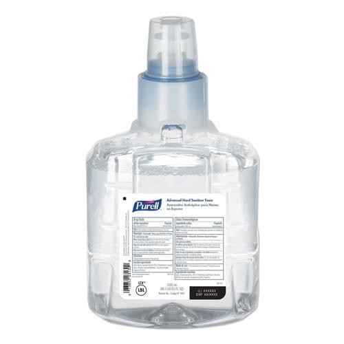 PURELL® Advanced Hand Sanitizer Foam 1200 mL Refill for PURELL® LTX-12™ Dispenser 2/CS