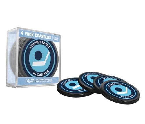 HNIC Puck Coasters - Retro Logo