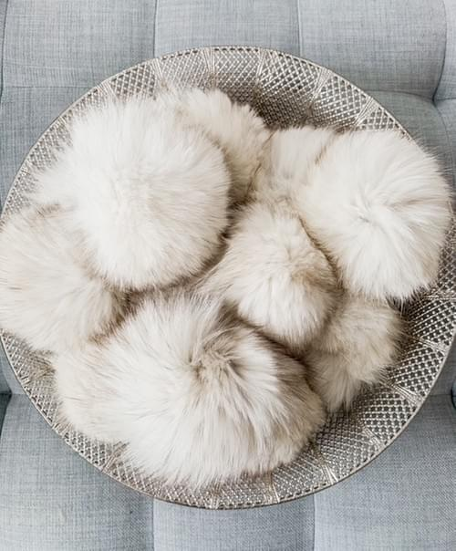Large Blue Fox - Upcyled Fur