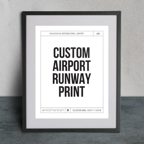 Custom Runway Print