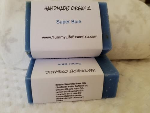 Super Blue Organic Soap 4 oz