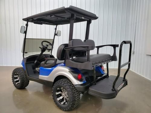 2016 Yamaha Drive Gas Carb DELUXE STREET READY Golf Cart, Talledaga Blue Silver