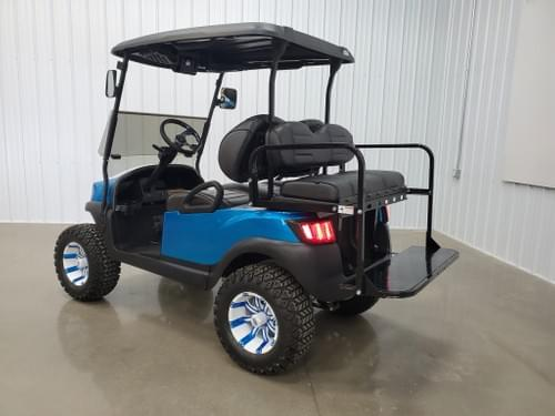 2019 Club Car Tempo Electric STREET READY Golf Cart, Candy Apple Blue