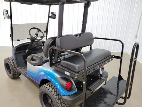 2015 Yamaha Gas Carb STREET READY Golf Cart, Viper Blue Platinum Silver