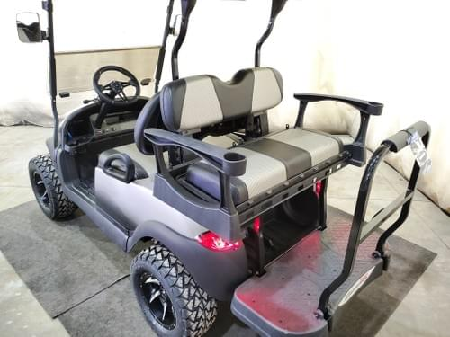 2016 Club Car Precedent Electric DELUXE STREET READY Golf Cart, Charcoal Platinum Fade
