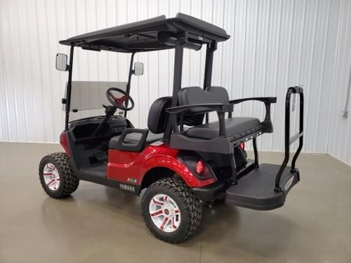 2019 Yamaha Drive 2 Gas AFI DELUXE STREET READY Golf Cart, Candy Apple Red