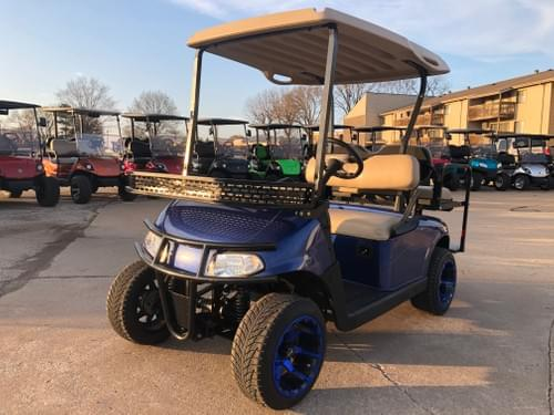 2015 E-Z-GO RXV Gas Carb DELUXE STREET READY Golf Cart, Blue