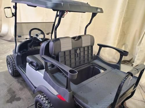 2018 Club Car Precedent Electric DELUXE STREET READY BAZOOKA Golf Cart, Silver