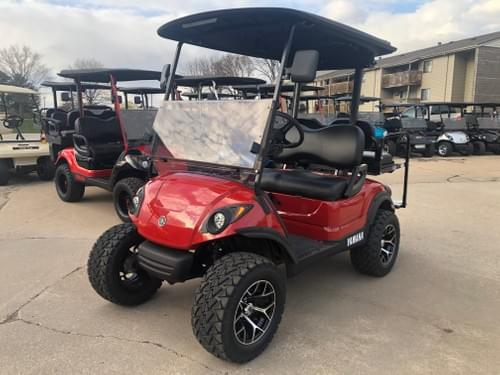 2013 Yamaha Drive Gas Carb, WET SOUNDS STREET READY Golf Cart, IH Red