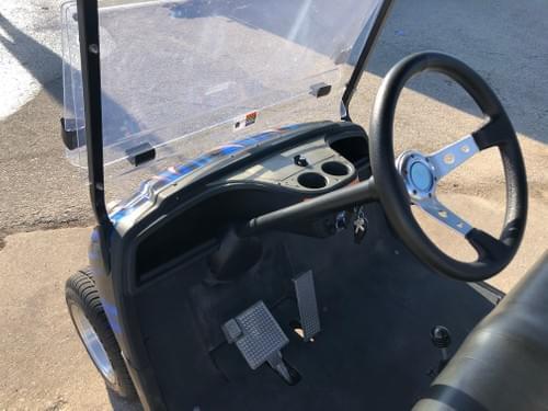 2010 Yamaha Drive, Gas Carb, Blue w/ Flames