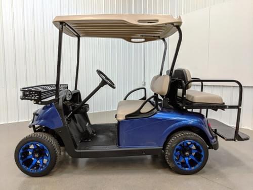 2015 E-Z-GO RXV Gas Carb Golf Cart, Navy Blue