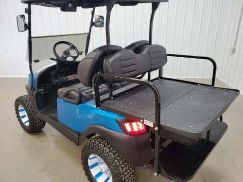 2019 Club Car Tempo Electric STREET READY Golf Cart, Candy Apple Blue