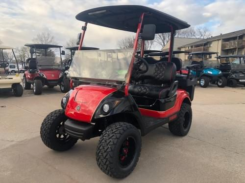 2014 Yamaha Drive Gas Carbureted DELUXE STREET READY Golf Cart, Red & Black