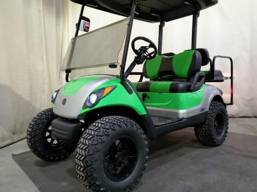 2015 Yamaha Drive Gas-EFI STREET READY Golf Cart, Extreme Green And Silver