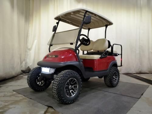 2016 Club Car Precedent Electric STREET READY Golf Cart, Sangria Red