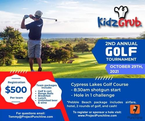 Kidz Grub Charity Golf Tournament on Friday, October 29th