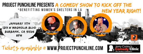January 11th Show - Comedy Show for Women's Shelters in LA