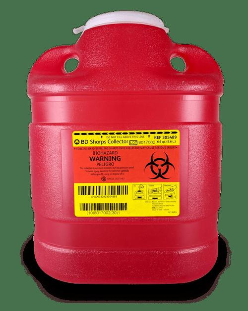 305489 - 6.9 QT BD Sharps Container