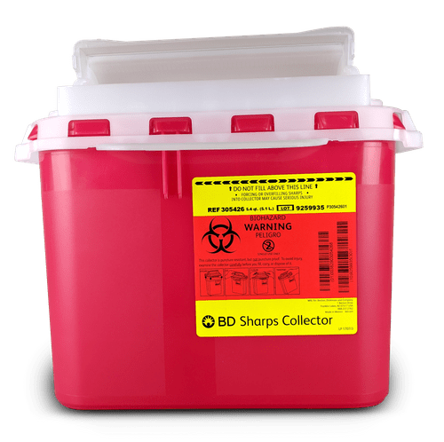 305426 - 5.4 QT BD Sharps Container Red