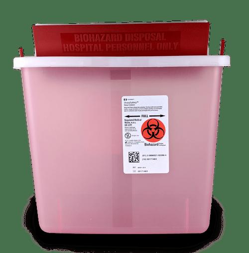 85131 - 5 QT Sharps Container Mailbox Transparent RED