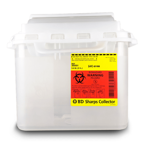 305551- 5.4 QT BD Sharps Container Clear