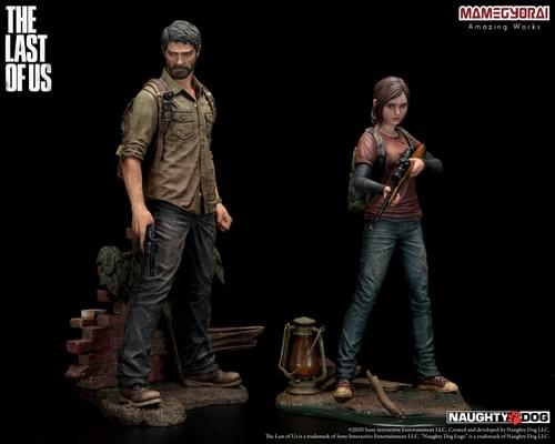 THE LAST OF US/ JOEL AND ELLIE 1/9 SCALE FIGURES
