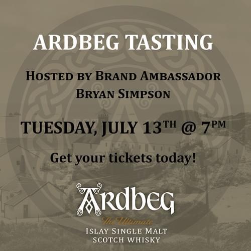 Ardbeg MasterClass With Brand Ambassador Bry Simpson