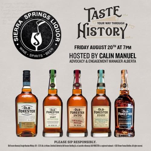 Taste You way through Bourbon History with Calin Manuel