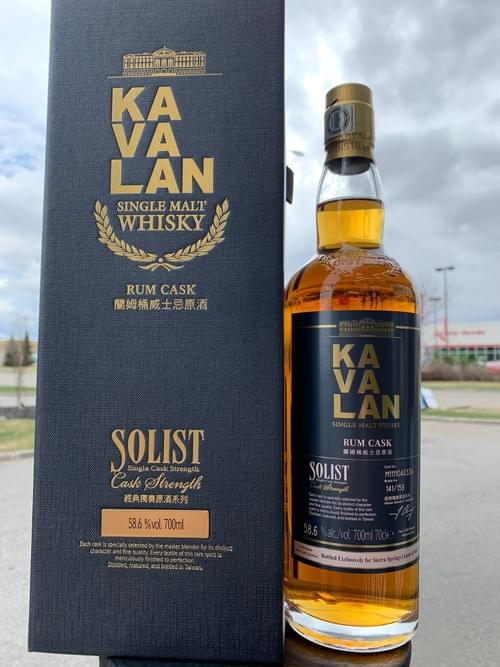 Kavalan Solist Rum Cask  Sierra Springs Single Cask 58.6%