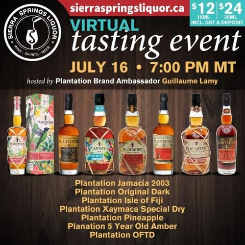 Plantation Rum Tasting Hosted by Guillaume Lamy