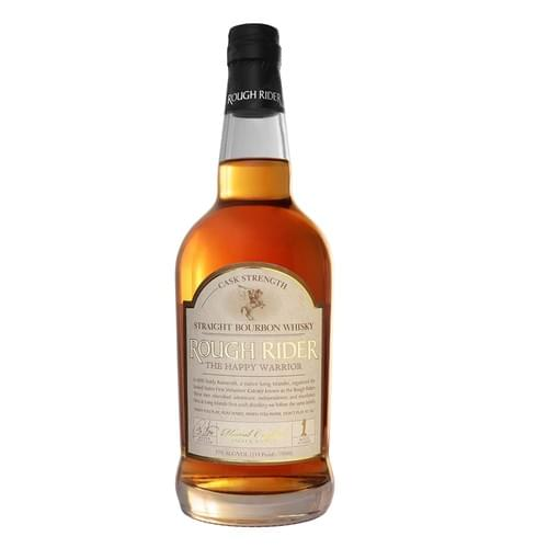 """Rough Rider """"The Happy Warrior"""" Cask Strength Straight Bourbon Whisky 57% abv"""