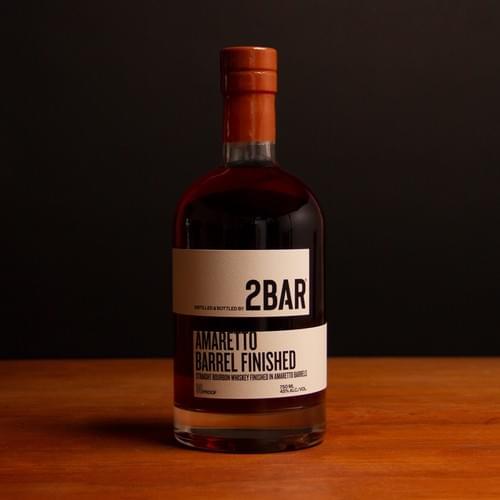 2BAR Amaretto Barrel Finished Bourbon (750ml)