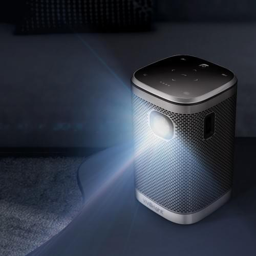 """VIVIBRIGHT L2 mobile projector DLP+LED for 120"""" game video entertainment【2 versions available】"""