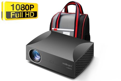 VIVIBRIGHT 1080P SMART LCD LED PROJECTOR F30UP(android version) with FREE Carry bag for Home THEATER