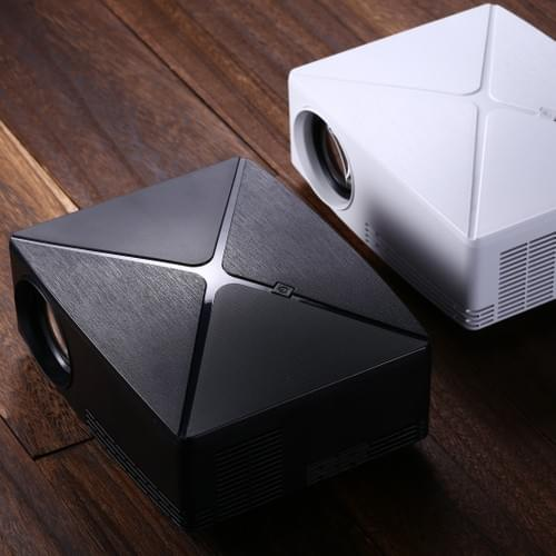 """VIVIBRIGHT C80 Projector WHD/1280*720P for 100"""" video entertainment, Available in white & black"""