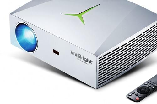 VIVIBRIGHT Full HD 1920x1080P LCD LED PROJECTOR F40 (Silver) with FREE Carry bag for Home THEATER