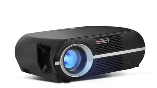 VIVIBRIGHT Full HD 1920x1080P LCD LED PROJECTOR GP100 (Black)  for Home entertainment EU/UK Plug