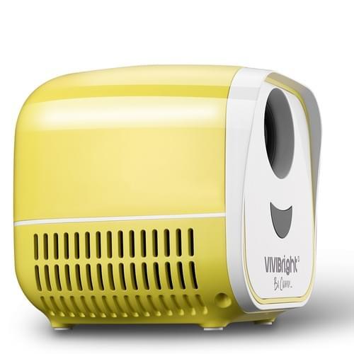 """VIVIBRIGHT L1 kids toys Projector 480*320P, Portable size suitable 60"""" video entertainment 【yellow】"""