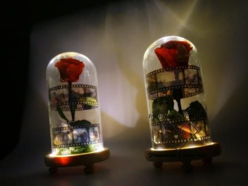 永生花夜燈 玫瑰 保鮮花