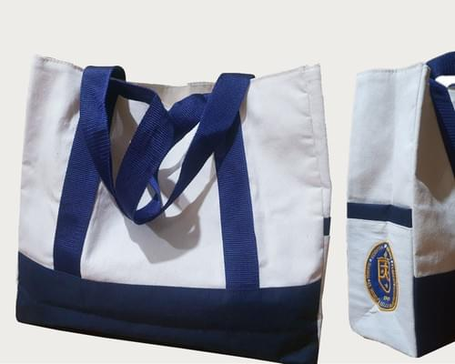 Canvas Tote with Embroidered STC Logo