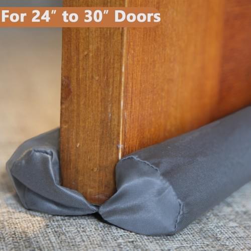 """MAXTID Under Door Draft Stopper Small Size Adjustable 24"""" to 30"""" Door Seal for Bottom of Doors"""