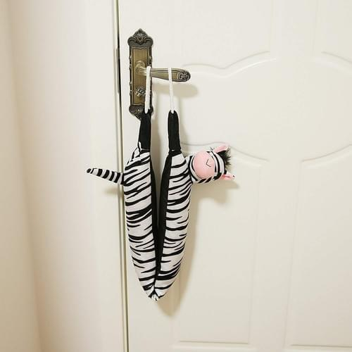 "36"" Zebra Door Draft Stopper Heavy Duty Soundproof with Rope Handle, Keep Noise, Polluti"